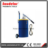 25L Hand Operated Grease Pump with Follower Plate Inside