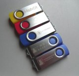 Custom Logo Printed Cheap Popular Rotate USB Stick