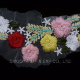 Fashion Colored Flower Beautiful Embroidery Fabric Lace Ladies Collar Textile