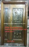 Luxury Nice Designs Mother and Son Size Security Metal Copper Door W-Stz-02-2