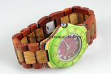 Popular Japan Movt Wood Face Wrist Watches for Womens Mens