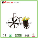 Powder Coated Metal Bike Flowerpots for Home and Garden Decoration