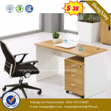 Metal Leg Cupboard Attached Wooden Computer Office Desk (HX-5N101)
