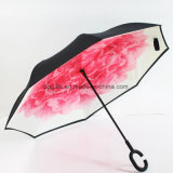 Custom Printed Reverse/Inverted Outside Upside Down Folding Umbrella