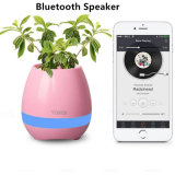 Cheap Creative Mini Bluetooth Smart Music Flowerpot Speaker with Lighting