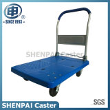 Capacity Steel 300kg Platform Hand Cart with PU Wheels