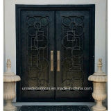 Contemporary Style Wrought Iron Entry Door (UID-D080)