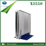 Ultra Thin Desktop Computer Intel Dual Core CPU Max 4GB RAM and 128GB SSD Small Light Raspberry Pi Case 4 USB Port HDMI Micro PC