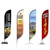 Polyester Fabric Custom Logo Beach Feather Outdoor Flying Flag Banner for Exhibition Event