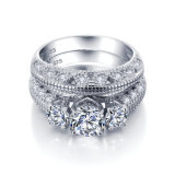 Elegant Wedding Ring AAA Cubic Zirconia 925 Silver Fashion Jewelry