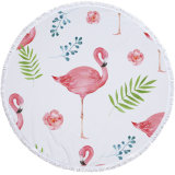 High quality Microfiber Custom Flamingo Round Beach Towel Wholesale