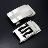 Custom Silver Metal Release Adjustable Men Automatic Stainless Steel Belt Buckle with Carving Logo