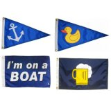 Factory Directly Supply Cheap Polyester Fabric Custom Boat Flags