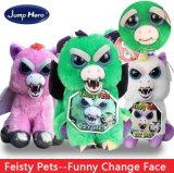 Feisty Pets Soft Plush Stuffed Scary Face Pendant Toy Animal Xmas Gift