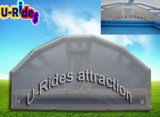 Air tight inflatable swimming pool cover tent for winter use