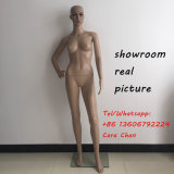 Plastic Female Mannequin Realistic Head Turns Dress Form Display Full W/Base