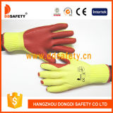 Wholesale Red Rubber Coated Cotton Industrial Work Safety Gloves