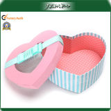 Popular Heart Shaped Gift Paper Box with Clear Window