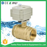 2 Way Electric Control Brass Water Ball Valve Motorized Actuator Brass Ball Valve with Manual Operation (T25-B2-B)