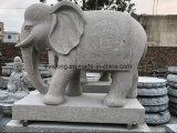Stone Marble Granite Elephant Carving Garden Elephant Statue/Sculpture for Sale