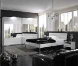 Modern Style Bedroom Furniture Set in White and Mirror (HF-SR016EY)