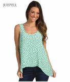 Summer Green Color Casual Chiffon Beach Tank Top