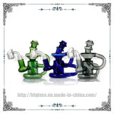 Klein Recycler 14mm Polished Quartz Banger Nail Glass Smoking Water Pipes DAB Oil Rigs