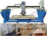 Automatic Monoblock Granite Marble Bridge Saw with Blade Tilting 45 Angle Cutting Kitchen Tops (XZQQ625A)