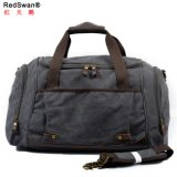 Leather Trims Canvas Weekender Overnight Trip Travelling Woman Man Duffle Bag (RS-9153)