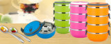 Fashion Bento Food Storage Container Set Professional Useful Lunch Box of 4 Pieces for Restaurant