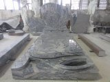 Natural Stone/Absolute Black/Grey/Red/European/Russian/American Style Granite/Marble Tombstone with Custom Design