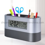 Muti-Functional Cheap Office Pen Holder with Digital Alarm Clock
