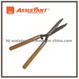 Garden Tools Forged Wavy Blade Hedge Shears with Wooden Handles