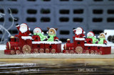 Christmas Ornaments Ceramic Santa Train