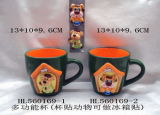 Hot Sale Handmade Artistic 3D Cartoon Mug for Coffee with Magnet
