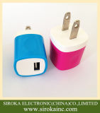 Us Plug AC Wall Travel Charger Adapter with 5V 1A/1.5A