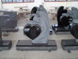 Angle Engraved Black Granite Cemetery Western Monuments Tombstones