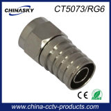 CCTV Water-Proof F Connector for RG6 Coaxial Cable (CT5073/RG6)