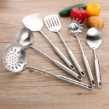 5PCS Kitchen Utensils Stainless Steel Cookware Kitchen Accessories Soup Ladle Flat Turner
