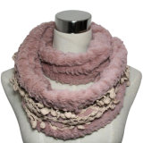 Fashion Faux Fur Infinity Scarf with Lace Decoration (YKY4368)