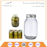 Glass Mason Pickles Jars with Lids
