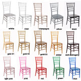 Transparent Clear Wedding Event Sillas Tiffany Chiavari Chair