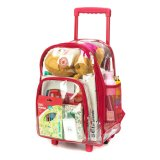 Heavy Duty Rolling Sea Through Clear Backpack with Wheels for School Student