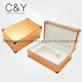 Custom PU Leather Wooden Perfume Packaging Box