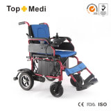 Topmedi Medical Health Euquipment Folding Electric Power Wheelchair for Adults