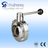 Sanitary Weld End Butterfly Valve with EPDM Seal
