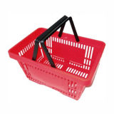 Handle Portable Plastic Basket for Storage