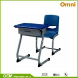 Fixed Single Student Desk and Chair for School (OMH03+KZ07)
