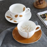 Bone China Coffee Cup British European Afternoon Cup of Cappuccino