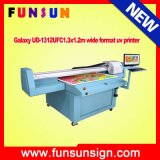 Galaxy Ud-2512ufw 2.5 X1.2m UV Flatbed Printer with White Color for Wood, Glass, Aluminum